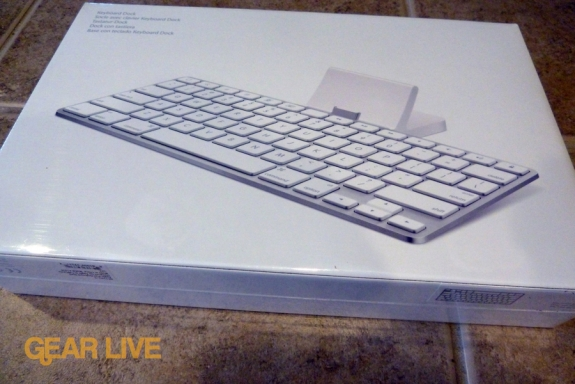 iPad Keyboard Dock back of box