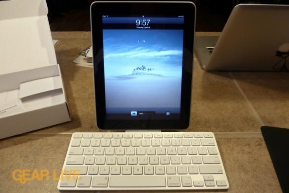 iPad in Keyboard Dock