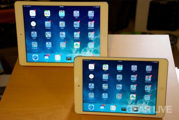 iPad mini with Retina display with iPad Air