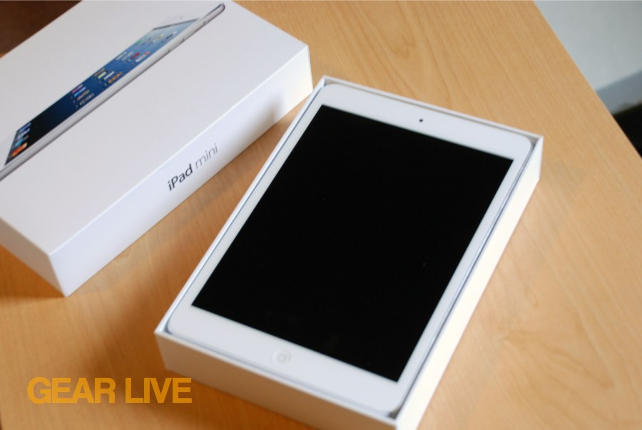 iPad mini box opened