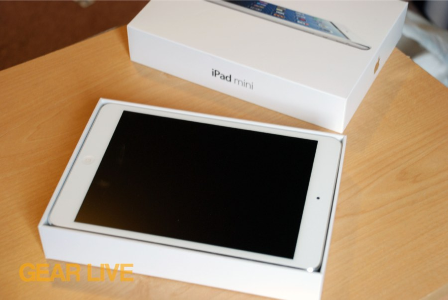 White iPad mini in box