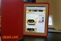 iPad Smart Case opened