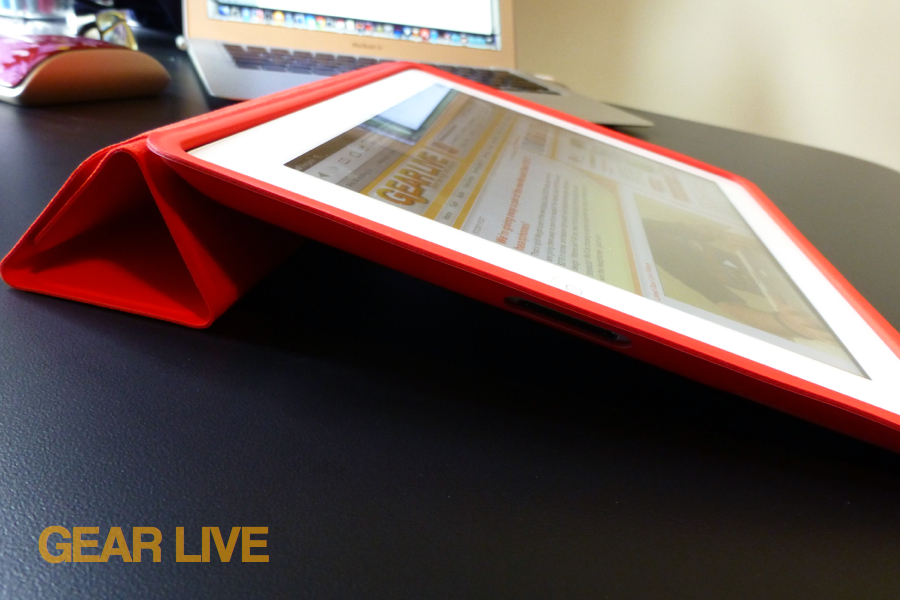 iPad Smart Case typing mode