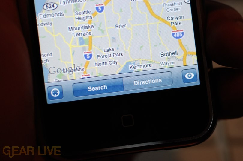 iPhone 1.1.3 Firmware: New Google Maps Menu