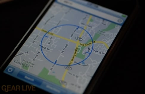 iPhone 1.1.3 Firmware: Google Maps Locate Me Feature