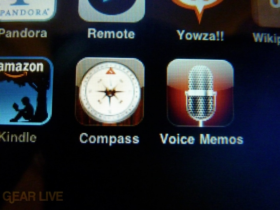 iPhone 3G S Compass and Voice Memos
