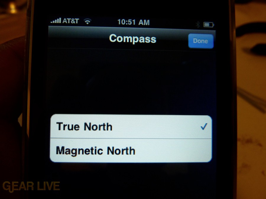 iPhone 3G S Apps: Compass True or Magnetic North