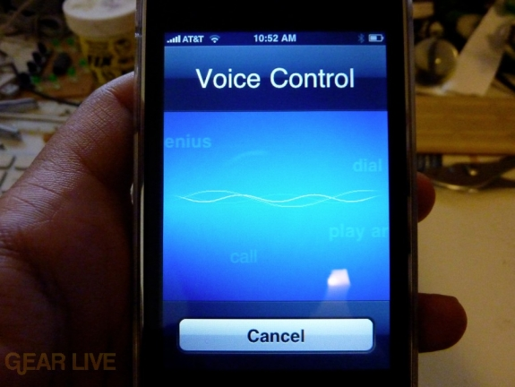 iPhone 3GS voice control
