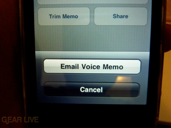 iPhone 3G S Apps: Voice Memos Email