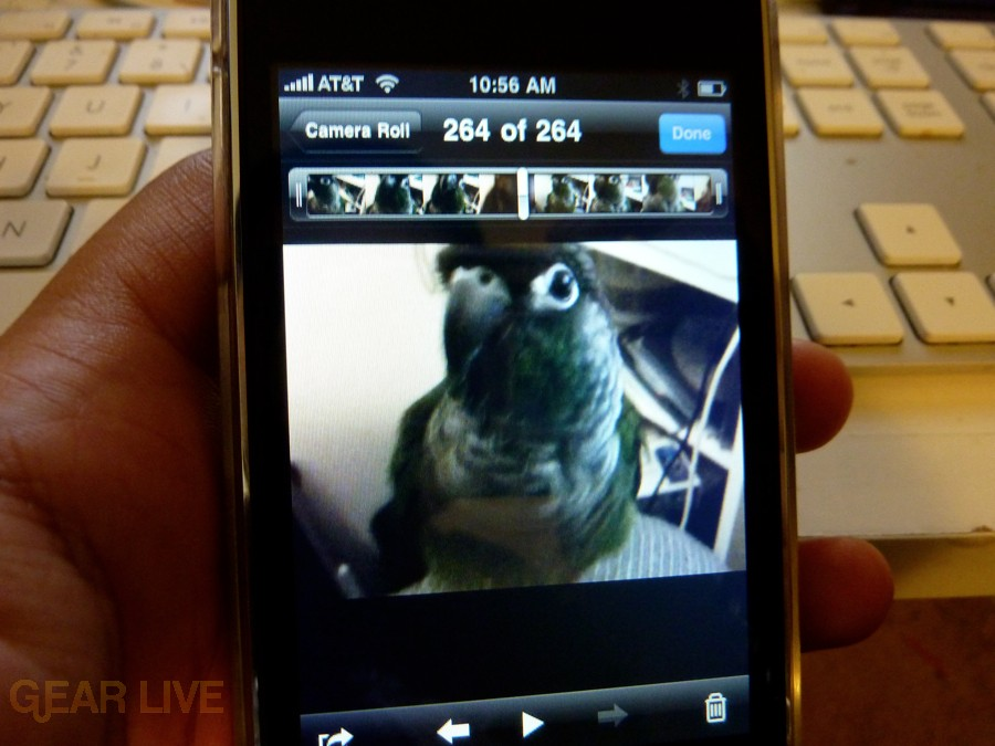 iPhone 3G S Apps: Video timeline