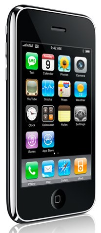 Diagonal shot of black iPhone 3G