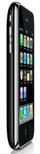 iPhone 3G side with screen, black