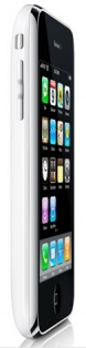 iPhone 3G side with screen, white