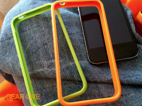 Orange and Green iPhone 4 Bumpers