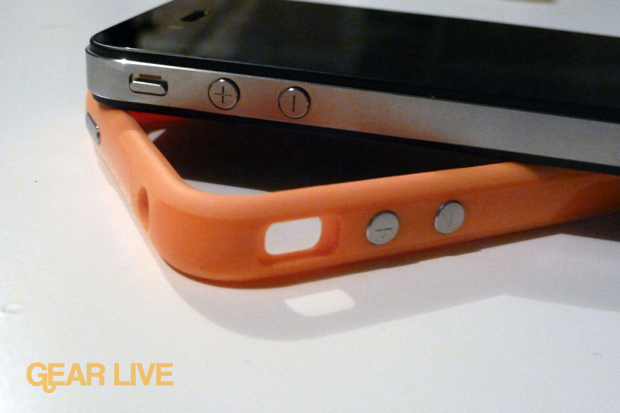 iPhone 4 orange Bumper with iPhone 4