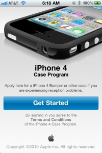 iPhone 4 Case Program start screen