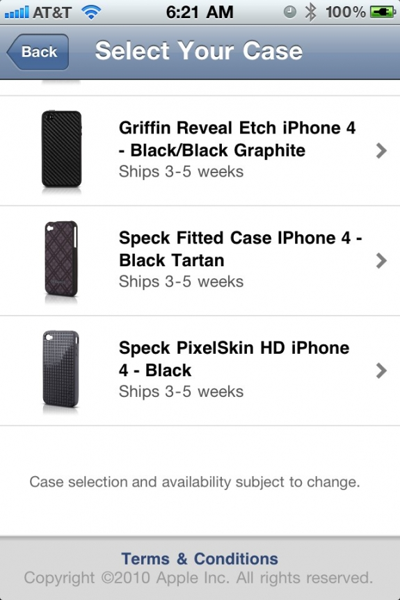 iPhone 4 Case Program select screen 2