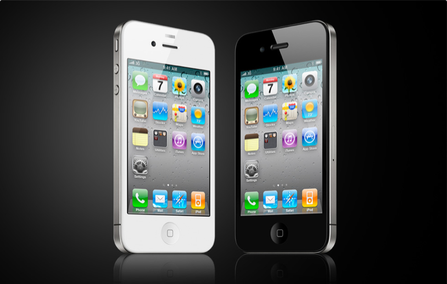 iPhone 4 white and black