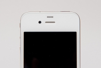 White iPhone 4 front camera