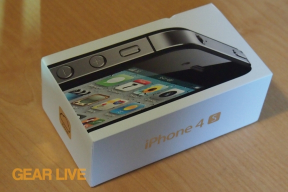 Black iPhone 4S box