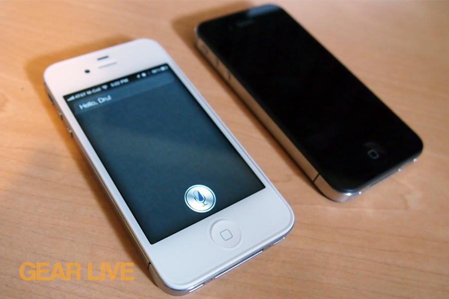 iPhone 4S Siri display