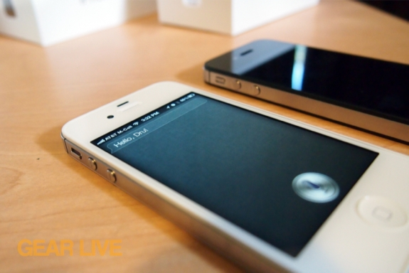 White iPhone 4S with Siri