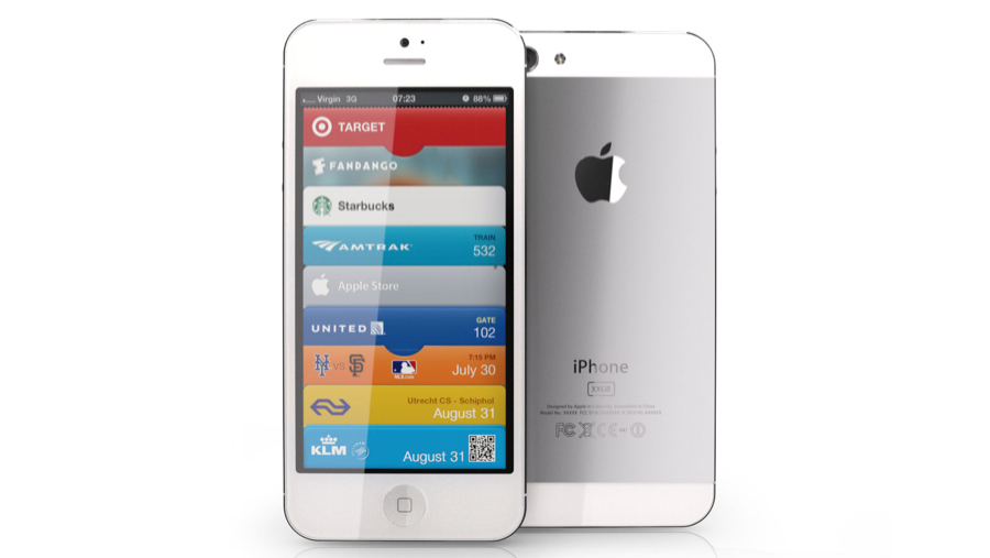 White iPhone 5 3D render front and back