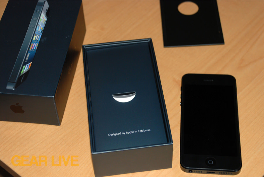 iPhone 5 black & slate removed