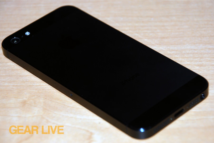 iPhone 5 black & slate rear angle