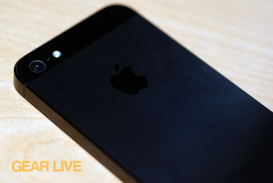 iPhone 5 black & slate rear camera