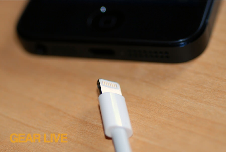 iPhone 5 black & slate Lightning Connector