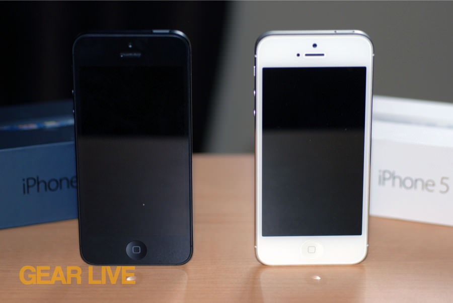 Black & White iPhone 5 side by side