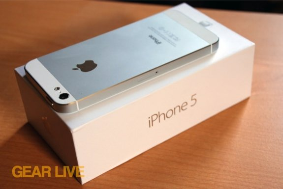 iPhone 5 White & Silver rear top