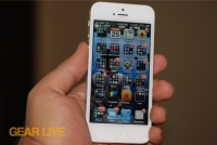 iPhone 5 White & Silver Home screen