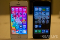 iPhone 5s front: Silver vs. Space Gray