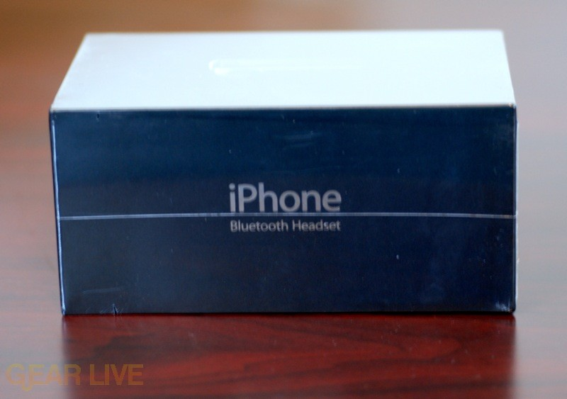 Side of iPhone Bluetooth Headset Box