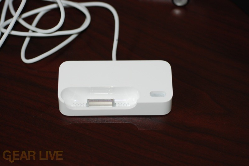 Top view of iPhone Bluetooth Headset dock
