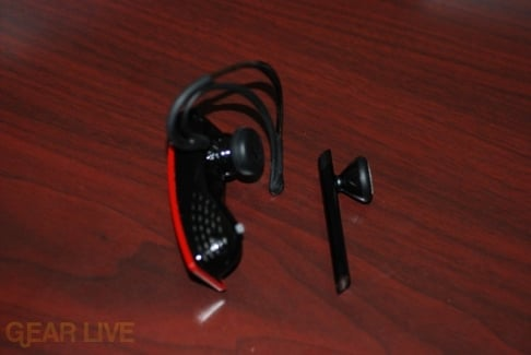 iPhone Headset vs. Jawbone Headset (Left)