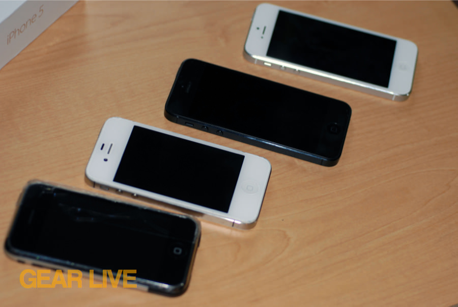 iPhone, iPhone 4S, iPhone 5 comparison
