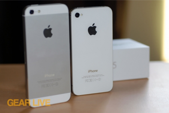 iPhone 5 back vs iPhone 4S back