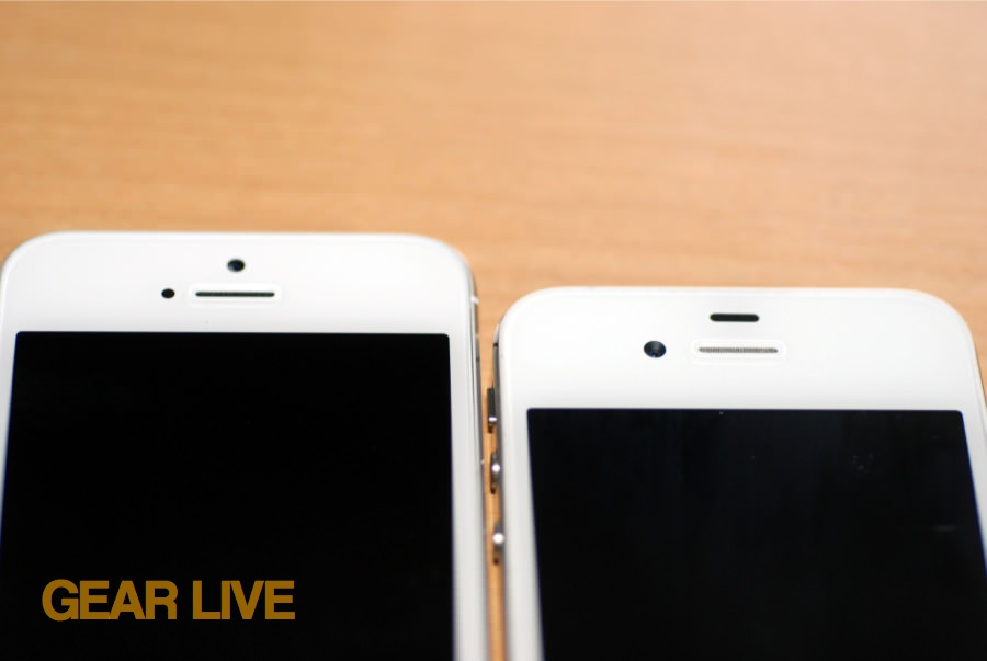 iPhone 5 and iPhone 4S earpiece and front camera comparison