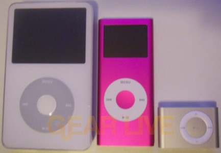 iPod with Video, 2nd Gen nano, and 2nd Gen shuffle