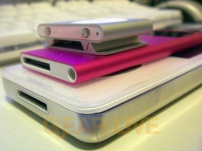 iPods Stacked Diagonally