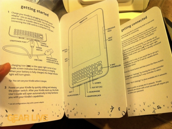Inside Kindle 3 Quick Start Guide