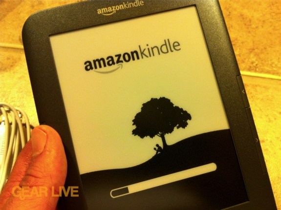 Amazon Kindle 3 boot-up