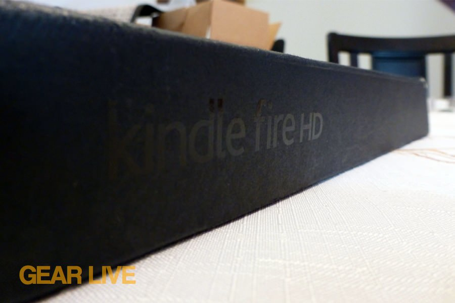 Amazon Kindle Fire HD box logo