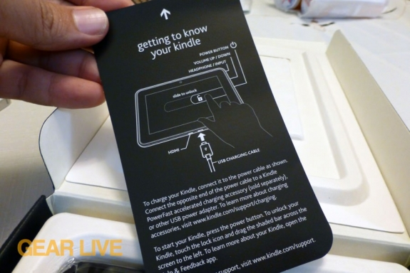 Amazon Kindle Fire HD 7 manual card