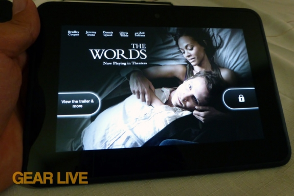 Amazon Kindle Fire HD 7 Special Offer the Words
