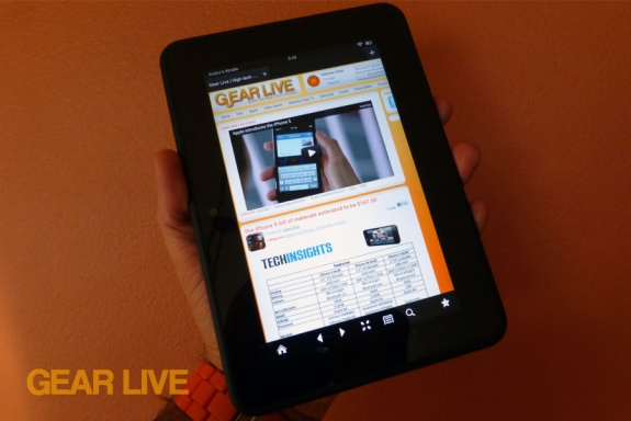Amazon Kindle Fire HD 7 Silk browser