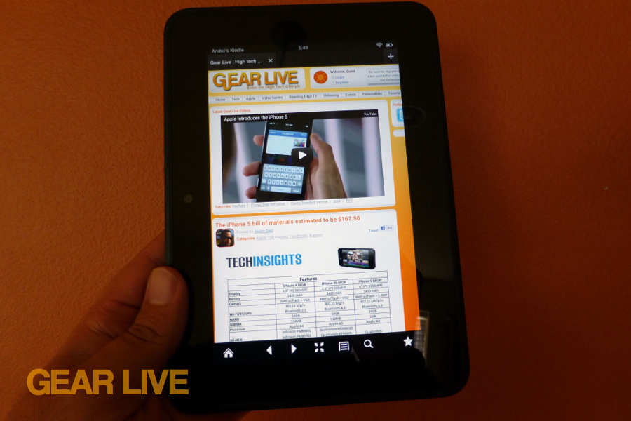 Amazon Kindle Fire HD 7 Gear Live